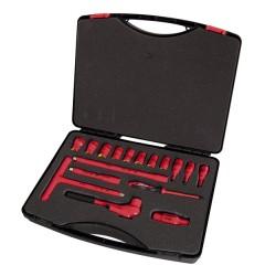 Чемодан с набором торцевых ключей VDE 1000 В 17 компонентов / 220147, 220147, 107928 руб., 220147, , Наборы  изолированных инструментов
