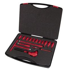 Чемодан с набором торцевых ключей VDE 1000 В 16 компонентов / 220205/EN, 220205/EN, 76532 руб., 220205/EN, , Наборы  изолированных инструментов