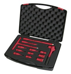 Чемодан с набором торцевых ключей VDE 1000 В 13 компонентов / 220212, 220212, 55439 руб., 220212, , Наборы  изолированных инструментов