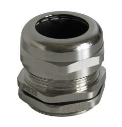 Кабельный ввод резьбовой латунный, с никелированным покрытием (метрическая резьба) / 250600