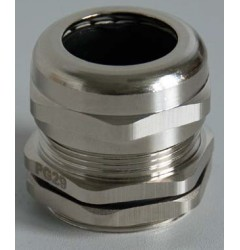 Кабельный ввод резьбовой латунный, с никелированным покрытием (PG резьба) / 250630