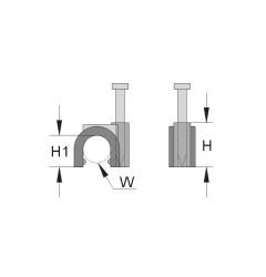 Скобы с гвоздями по стандарту ИСО / 262264
