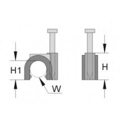 Скобы с гвоздями по стандарту ИСО / 262304