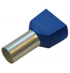 Спаренная конечная гильза, 2,5/10 цвет синий / 270792